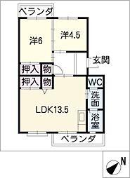 メゾン酒井 A棟[3階]の間取り