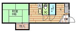 [テラスハウス] 大阪府大阪市此花区高見2丁目 の賃貸【大阪府 / 大阪市此花区】の間取り
