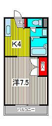 グレイス南浦和[1階]の間取り