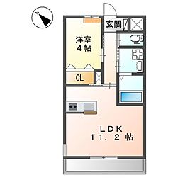 西二見新築アパート[1階]の間取り