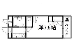 セレーネ田辺3A[311号室]の間取り