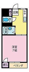コーポ岱久[3階]の間取り