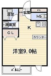 大阪府守口市竜田通1丁目の賃貸マンションの間取り