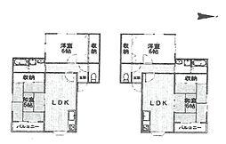 アベニュー武庫之荘B[B−201号室]の間取り