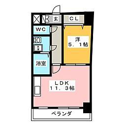 CLAIR HEIWA[5階]の間取り