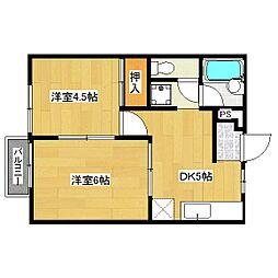 レジデンス桃山[2階]の間取り