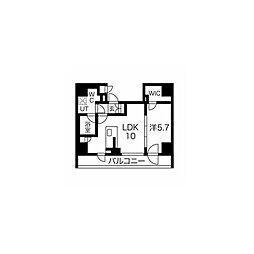 都営浅草線 戸越駅 徒歩6分の賃貸マンション 14階1LDKの間取り