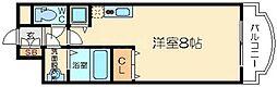 ノルデンタワー新大阪アネックスB棟 5階ワンルームの間取り