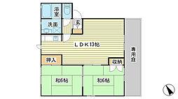 サンコート赤坂[B103号室]の間取り