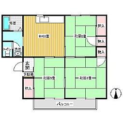 メゾンセジュール[1階]の間取り