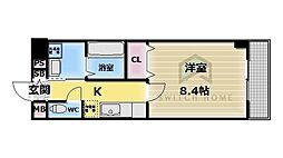 大阪府東大阪市御厨1丁目の賃貸マンションの間取り