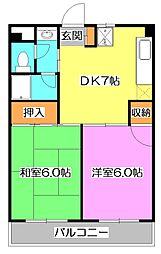 東京都西東京市東町4丁目の賃貸マンションの間取り