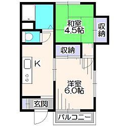 第2司ハウス[1階]の間取り