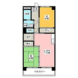 コープセンタービレッジ[1階]の間取り