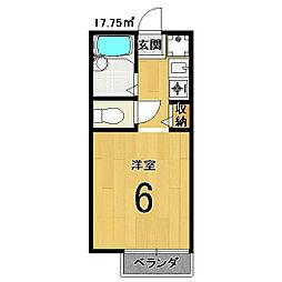 セジュールMAKOTO[105号室]の間取り