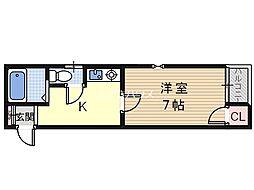 エクラ針中野[2階]の間取り