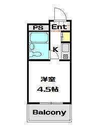 ユーロハイツ高津[5階]の間取り
