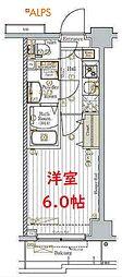 横浜市営地下鉄ブルーライン 阪東橋駅 徒歩9分の賃貸マンション 1階1Kの間取り