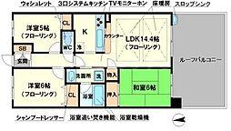 ローレルコート千里中央[2階]の間取り