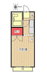 エステートピア田村[103号室号室]の間取り