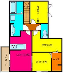 d−room横小路[201号室]の間取り