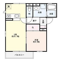 JR東海道・山陽本線 六甲道駅 徒歩8分の賃貸アパート 2階1LDKの間取り