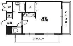 リアンジェ東三国[8階]の間取り