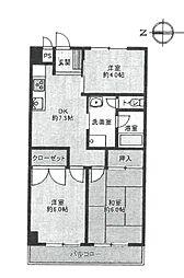 サンキュービルパートII[402号室]の間取り