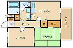 モンシェリー友3[1階]の間取り
