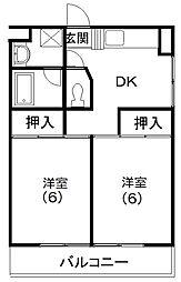レイクコート富塚[1階]の間取り