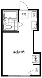 ペンシルハウス[1B号室号室]の間取り