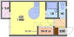 ネオモードJJ[103号室]の間取り