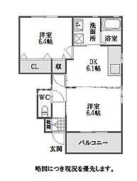 徳島県徳島市名東町3丁目の賃貸アパートの間取り