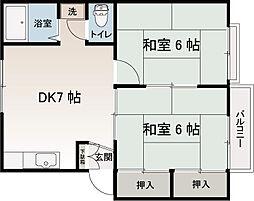 トラリュームシン[1階]の間取り