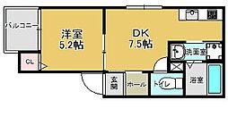(仮)レディア井尻[301号室]の間取り