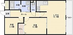 パレフルール[5階]の間取り