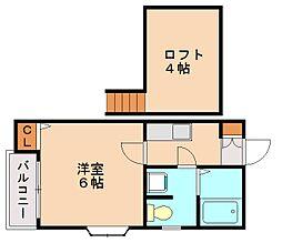 ピュア大橋参番館[2階]の間取り