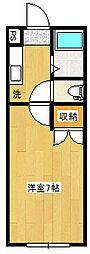 リーベンス台原[3階]の間取り