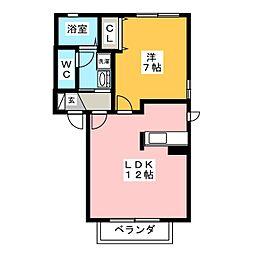 A・T・Tハイツ3号[2階]の間取り