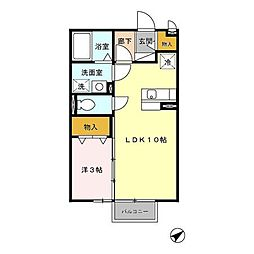L.DITA[2階]の間取り