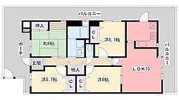 白鷹夙川マンション[2階]の間取り
