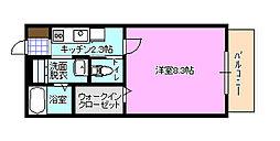 コージーコートB[2階]の間取り