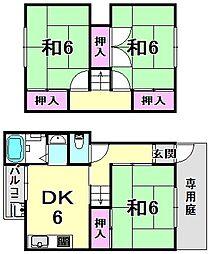鈴木連棟貸家[2階]の間取り