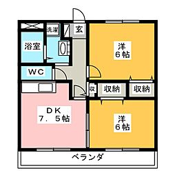 ユアーズホーム[3階]の間取り