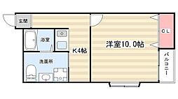 カーサ平野[2階]の間取り
