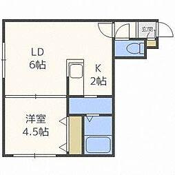 北海道札幌市東区北二十二条東15丁目の賃貸アパートの間取り