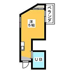 愛知県名古屋市瑞穂区佃町2丁目の賃貸マンションの間取り