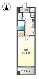 愛知県名古屋市北区若葉通1丁目の賃貸マンションの間取り