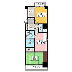 サンモール浅間[4階]の間取り