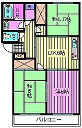 北栄第2マンション[202号室]の間取り